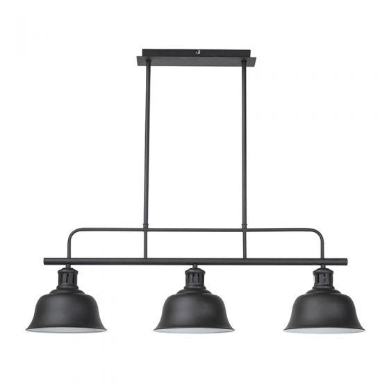 Edit Shoreditch 3 Light Bar Ceiling Pendant - Black