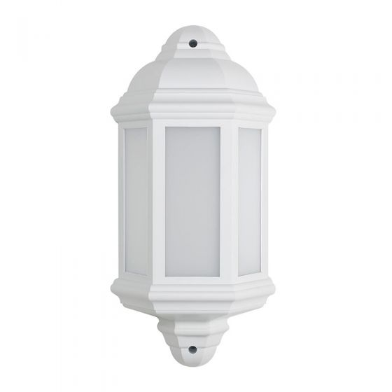 LED Half Lantern Outdoor Wall Light - White