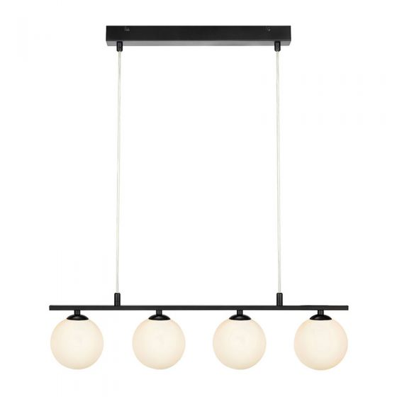Quattro 4 Light Bar Ceiling Pendant - Black