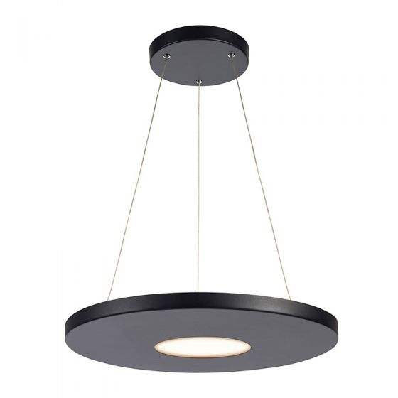 Plate LED Ceiling Pendant Light - Black