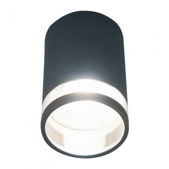Edit Piller Outdoor Flush Ceiling Light - Black