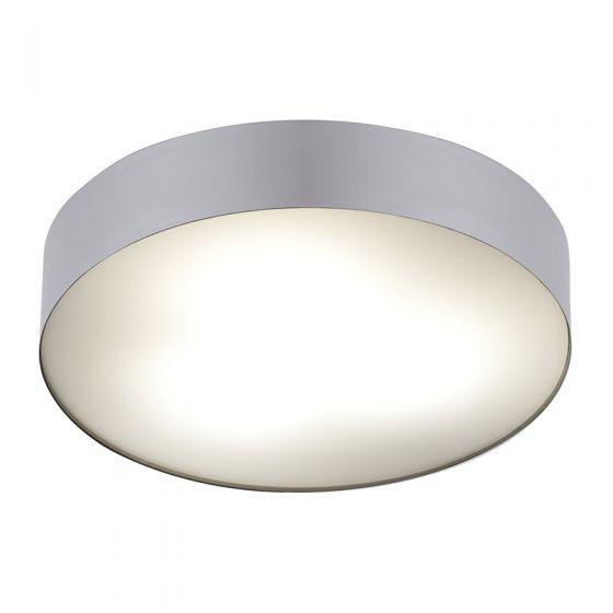 Edit Stadium Flush Ceiling Light - Silver