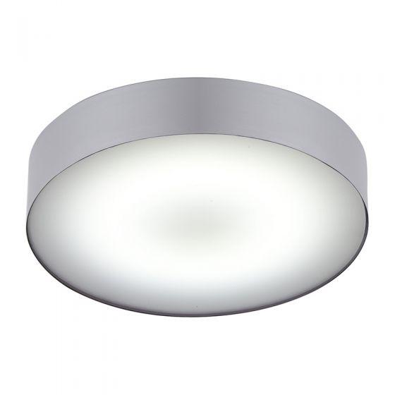 Edit Stadium LED Flush Ceiling Light - Silver