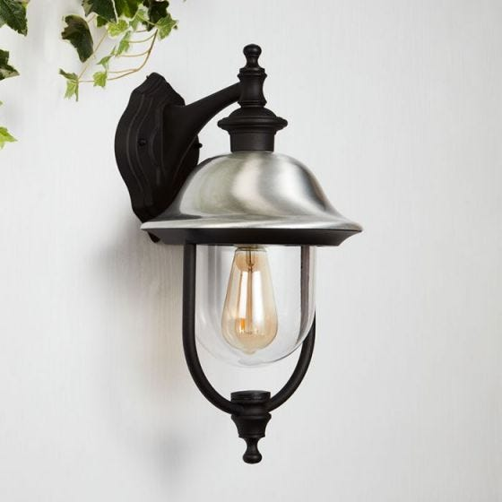 Searchlight Evolve Outdoor Hanging Lantern Wall Light - Black