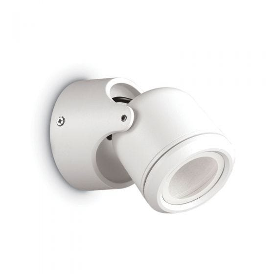 Raro Outdoor Wall Mounted Spotlight - White