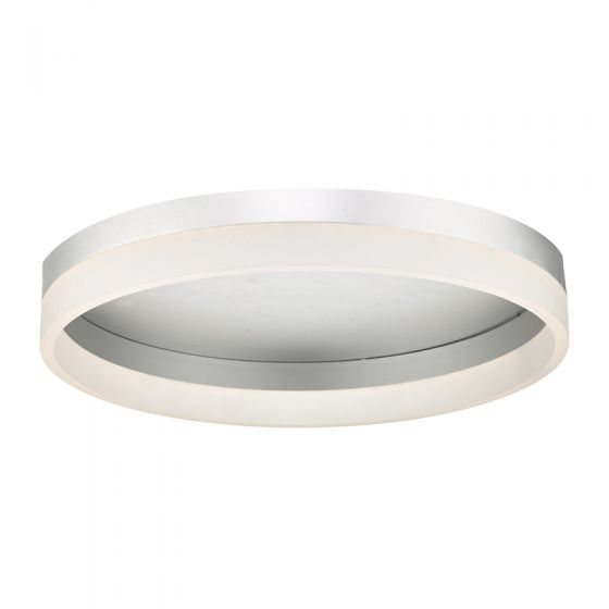 Dar Tybalt LED Flush Ceiling Light - Silver