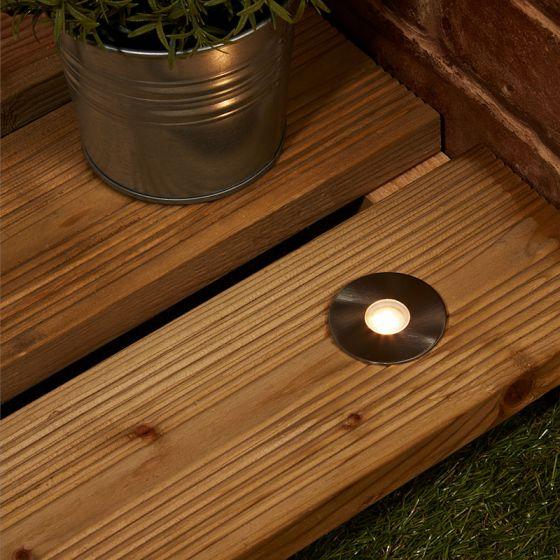 EasyFit 12v Garden Lights - Stowe LED Ground Light - Stainless Steel