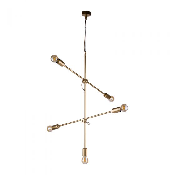 Edit Stick 5 Light Ceiling Pendant - Gold