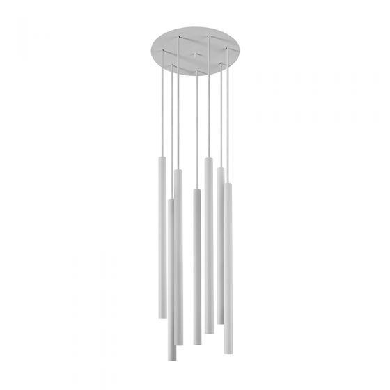 Edit Laser 7 Light Cluster Ceiling Pendant - White