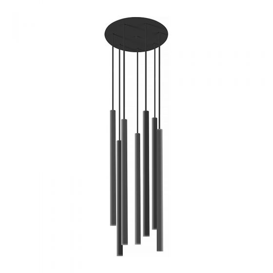 Edit Laser 7 Light Cluster Ceiling Pendant - Black