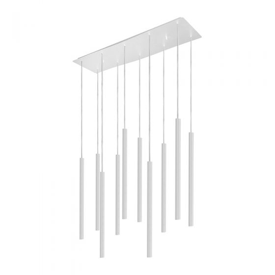 Edit Laser 10 Light Bar Ceiling Pendant - White