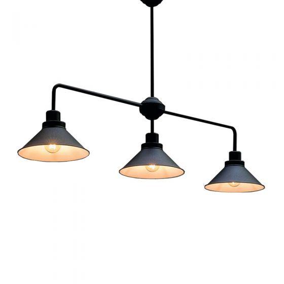 Edit Craft 3 Light Bar Ceiling Pendant - Black