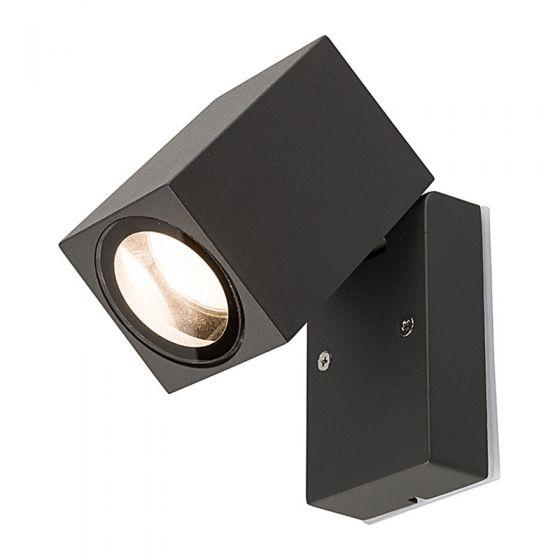 Edit Primm Outdoor Wall Mounted Spotlight - Black