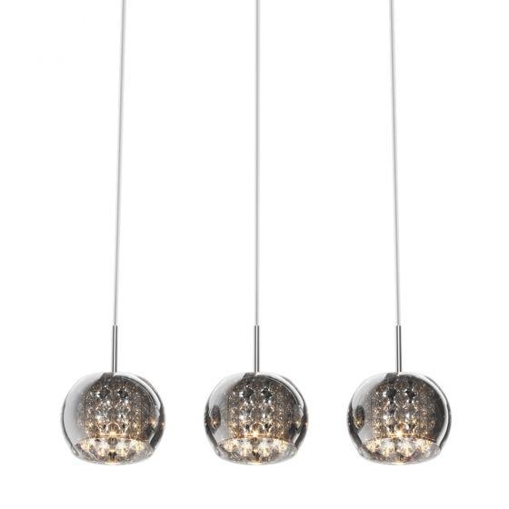 Edit Belgravia 3 Light Glass Bar Ceiling Pendant - Crystal