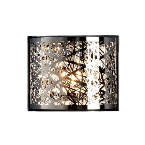 Edit Hilton Flush Wall Light - Chrome