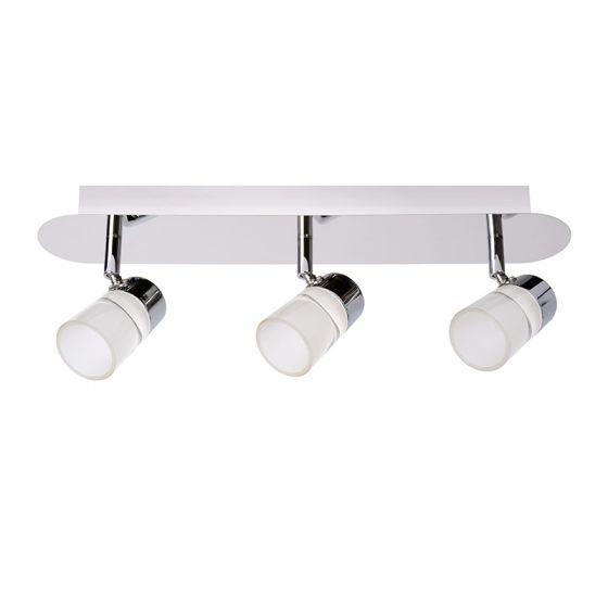 Lucide Xanto 3 Light LED Spotlight Plate - Chrome