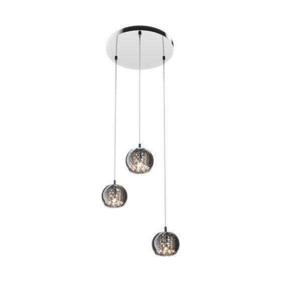 Edit Belgravia 3 Light Glass Cluster Ceiling Pendant - Crystal