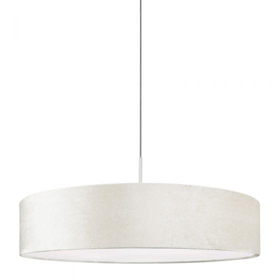 Edit Laguna Velvet Ceiling Pendant Light - Oyster