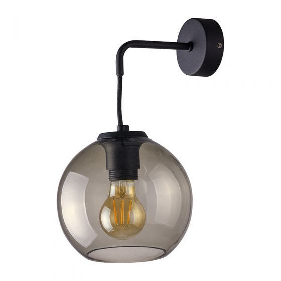 Edit Boule Wall Light - Smoked Glass