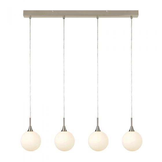 Quattro 4 Arm Bar Ceiling Pendant Light - Steel