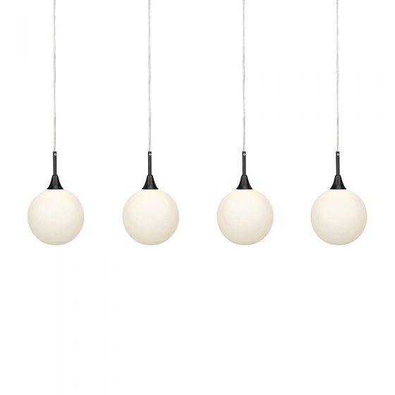 Quattro 4 Arm Bar Ceiling Pendant Light - Black