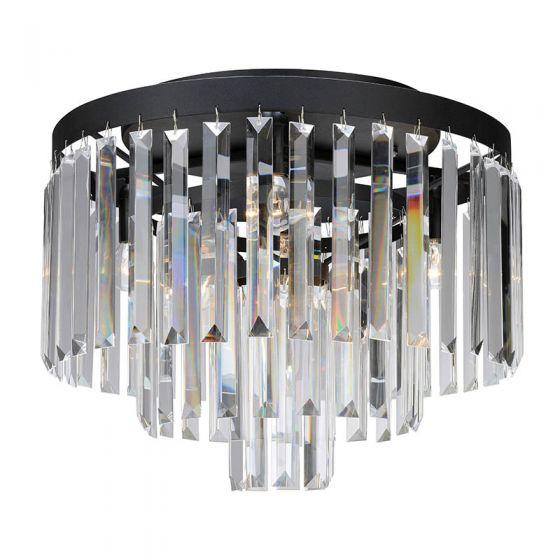 Ventimiglia Large Flush Ceiling Light - Black
