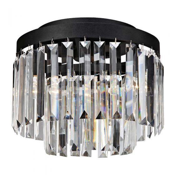 Ventimiglia Flush Ceiling Light - Black