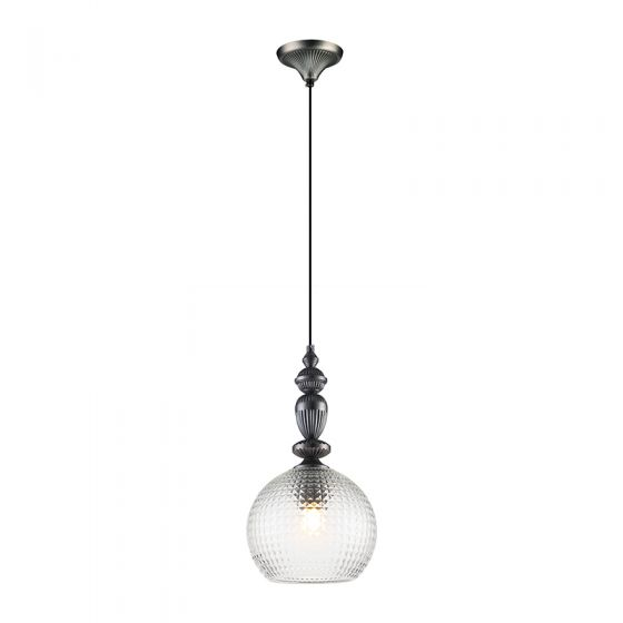 Edit Hirst Glass Ceiling Pendant Light - Pewter
