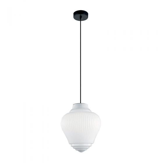 Edit Grosvenor Glass Ceiling Pendant Light - White