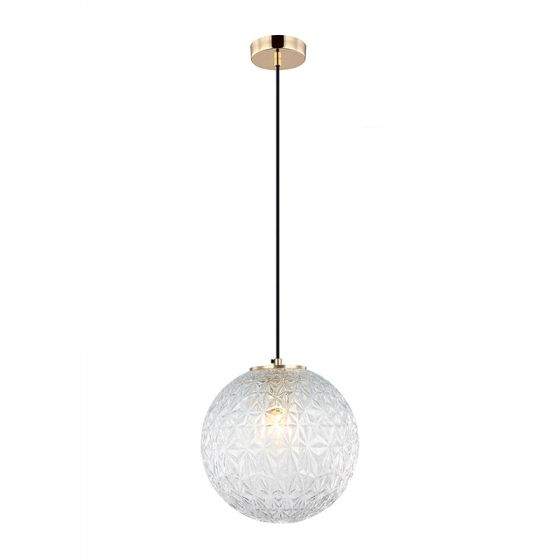 Edit Claridge Glass Ceiling Pendant Light - Clear