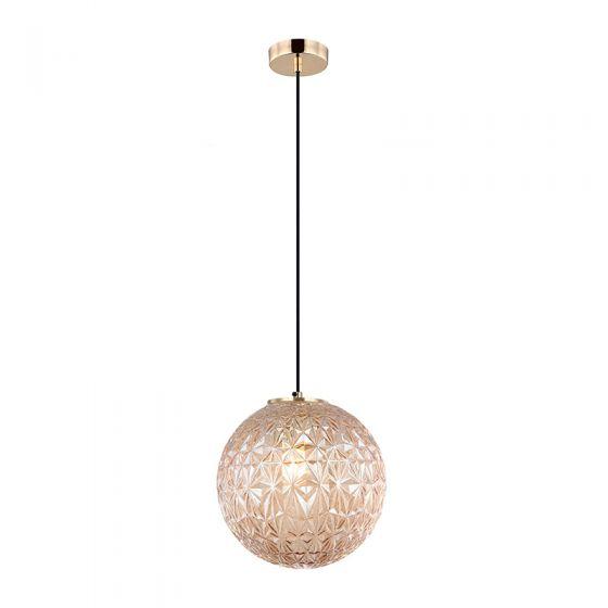 Edit Claridge Glass Ceiling Pendant Light - Amber
