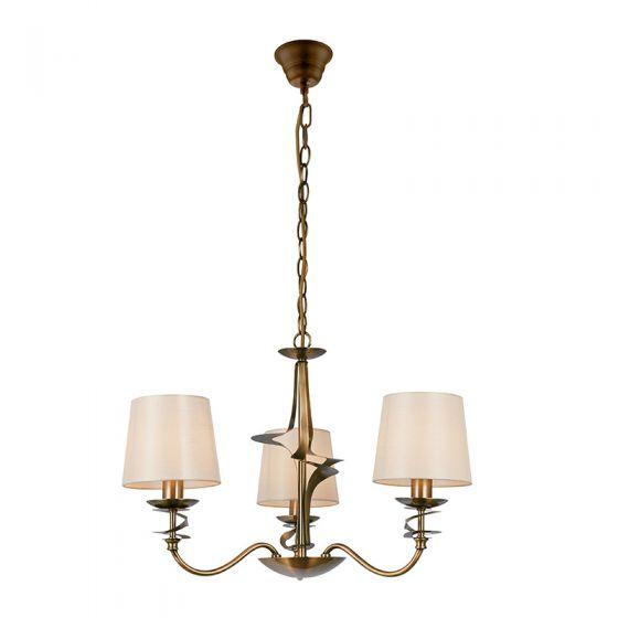 Edit Decor 3 Arm Ceiling Pendant Light - Brass
