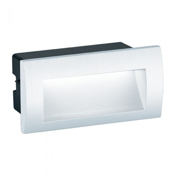 Edit Mason Rectangle LED Outdoor Wall Light - White