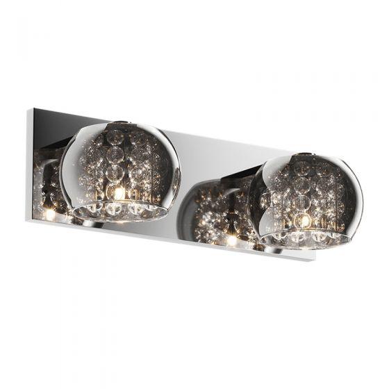 Edit Belgravia Glass Twin Wall Light - Crystal