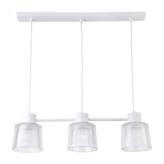 Edit Dusk Glass 3 Light Bar Ceiling Pendant - White