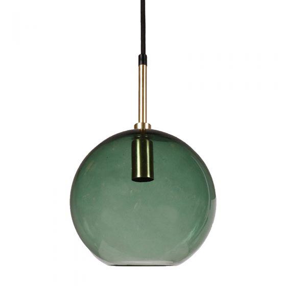 Edit Milla Glass Ceiling Pendant Light with Plug - Green