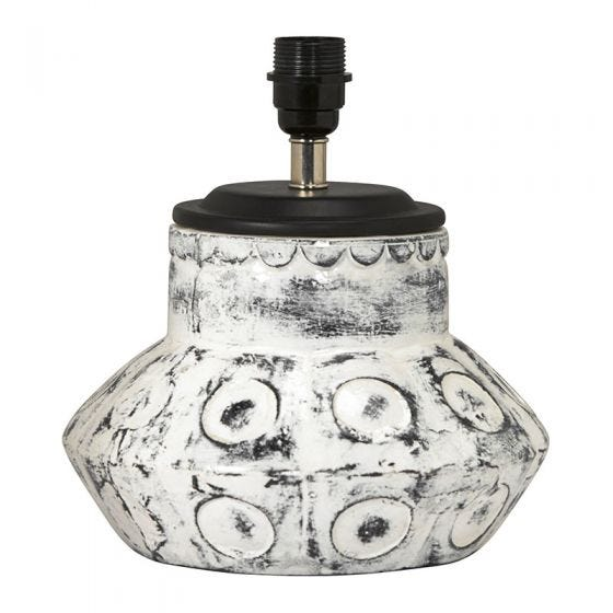 Edit Larry Ceramic Statement Table Lamp - Base Only - White