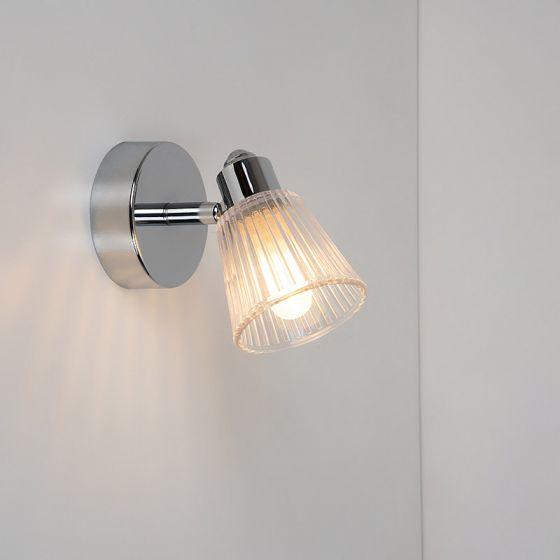Edit Rain Bathroom Single Spotlight - Chrome