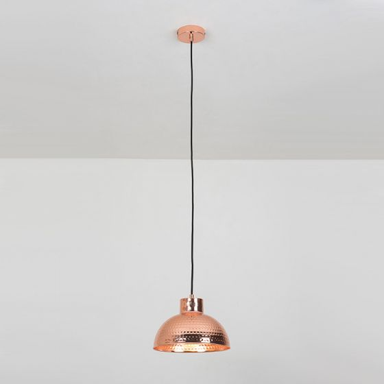Edit Hammered Ceiling Pendant Light - Copper