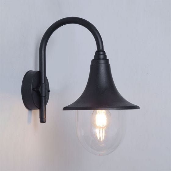 Edit Crook Outdoor Lantern Wall Light - Black