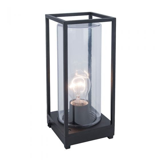 Flair Outdoor Pedestal Light - Dark Grey