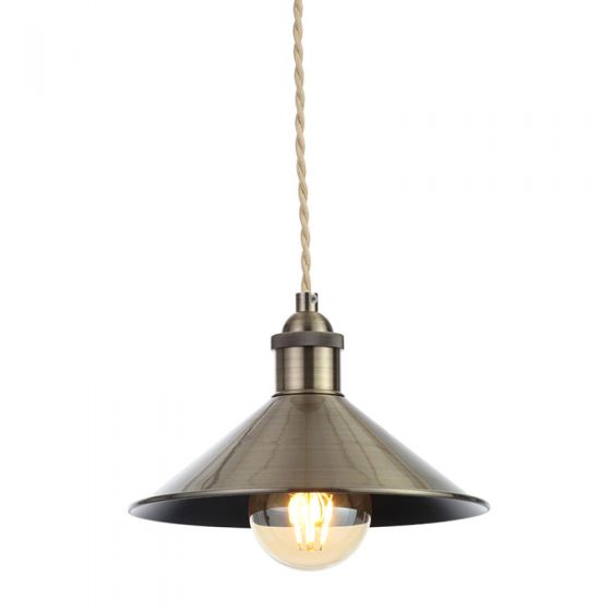 Edit Guard Easy Fit Ceiling Pendant Shade - Antique Brass