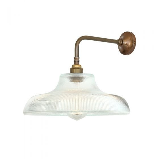 Mullan Mono Railway Wall Light - Antique Brass