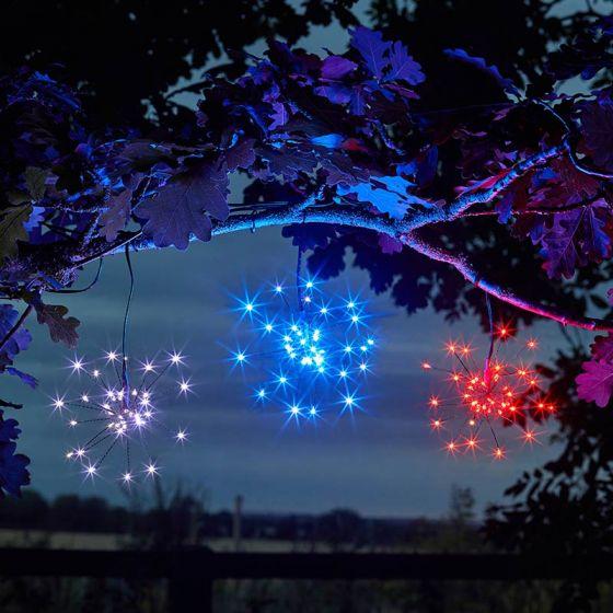Starburst Solar LED String Lights - 3 Lights