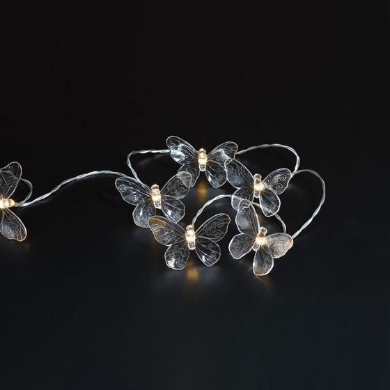 365 Butterfly Solar LED String Lights - 20 Lights