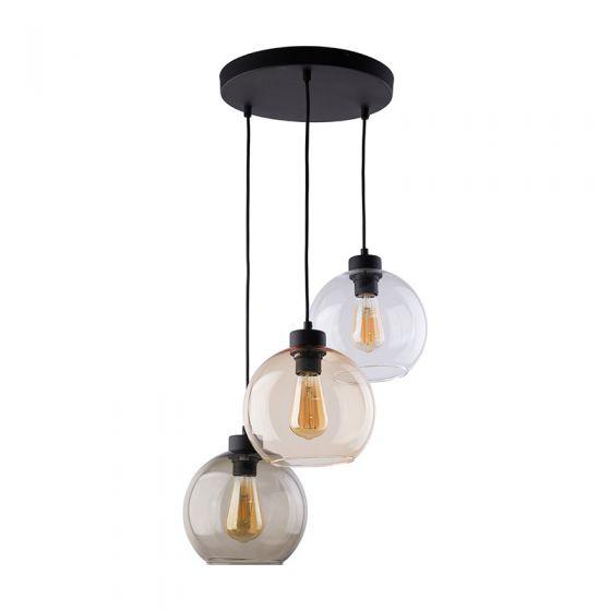 Edit Scope 3 Light Glass Cascade Ceiling Pendant - Neutrals