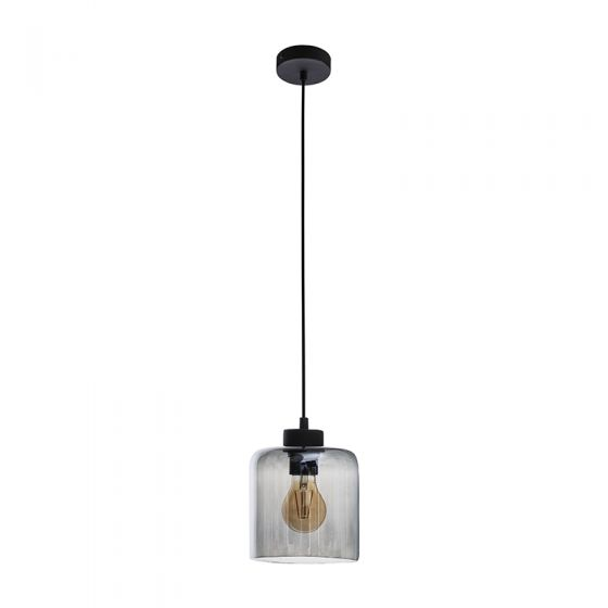 Edit Cask Glass Ceiling Pendant Light - Smoked