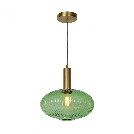 Lucide Maloto 30 Glass Ceiling Pendant Light - Green