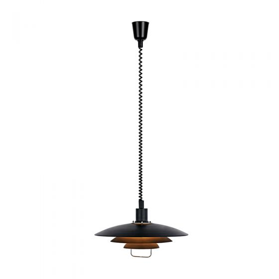Kirkenes Rise and Fall Ceiling Pendant Light - Black