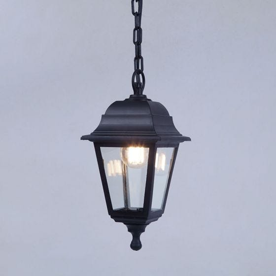 Edit Coastal Sennen Outdoor Pendant Porch Lantern - Black